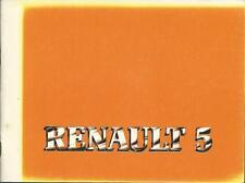 Renault R 5 r5 manual de instrucciones 1983 manual de instrucciones manual bordo libro ba