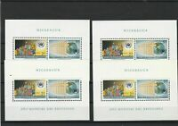 Nicaragua Mint Never Hinged Stamps Sheets  ref 22336