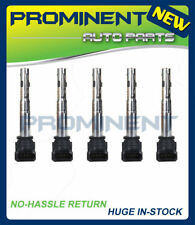 Set of 5 Ignition Coils For Audi VW TT EOS Golf Jetta Passat Rabbit 2.5L UF575