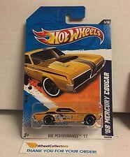 '68 Mercury Cougar #135 * Yellow * 2011 Hot Wheels * WK1
