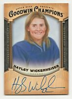 2014 Goodwin Champions Autograph AHW Hayley Wickenheiser Canada Olympic Champ