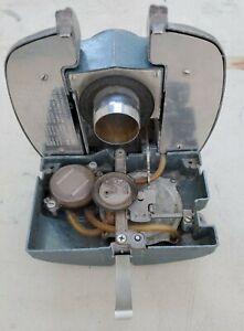 Vintage Electrolux Vacuum LX  Canister Model front, bag door aluminum - Works