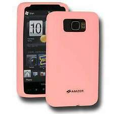 AMZER Silicone Soft Skin Jelly Case Cover Fit for HTC HD2 - Baby Pink