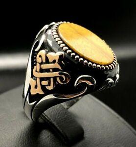 Mens Ring With Black Stone Plated gold Size 9 Oro Laminado Brasileño XPL 9