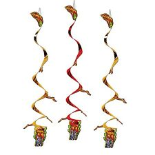 Pack of 3 Chinese New Year Dragon Whirls - 76 cm - Chinese Dragon Decorations