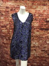 French Connection Black/Prince Sequined Club Shift Dress Size 4
