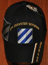 New Black 3rd Third Infantry Division US Army Hat Ball Cap Rock of the Marne