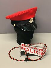 British Army-Issue Royal Military Police Service Cap, Badges & Lanyard. 55cm.
