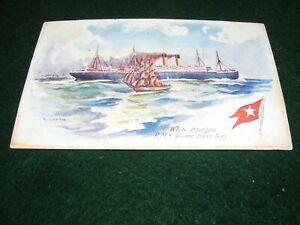 VINTAGE POSTCARD ART ODIN ROSENVINGE RMS CEDRIC WHITE STAR LINE STEAM SHIP DF
