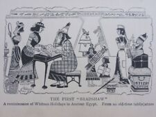 Chemin de fer & trains thème le premier Bradshaw-Egypte ancienne antique punch Cartoon