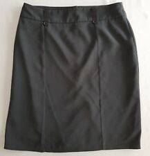 JACQUI E Grey Straight Work SKIRT. Size 12. Australian Made!