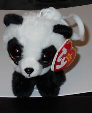 Ty Beanie Baby ~ BABOO the Panda Bear Key Clip Size ~ 2017 NEW w/ Tags - IN HAND