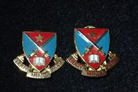 Vietnam War Era Fork Union Military Academy ROTC Crest DI DUI Pair NS Meyer Orig