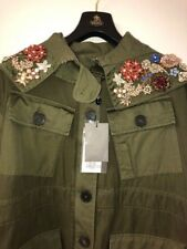 Army Green Crystal - Embellished Alexander Mcqueen Parka. Cost £3325.00 Sold Lit