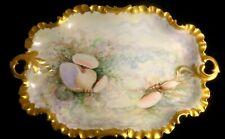 C 1890 Rosenthal Monbijou Porcelain Gilt Scalloped Edge Hand Paint w/ Sea Shells