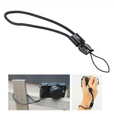 Black Camera Wrist Hand Strap w/ Leather for Canon Nikon Olympus Panasonic TOCA