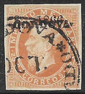 MEXICO -1866, MAXI.- 25c., 8-1866, CORDOVA - USED - N.F. $20.00
