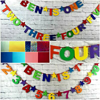 Personalised Birthday Bunting Party Decoration Banner First 1st party decoration