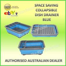 BLUE DISH DRAINER SINK SPACE SAVING COLLAPSIBLE BOAT CARAVAN KITCHEN JAYCO PARTS