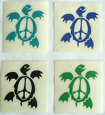 Set of 4 Gypsy Rose Small Peace Turtles Vinyl Cutout Rub-On Stickers Turtle >NEW