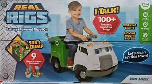 Kid Trax 6V Real Rigs Recycling Truck Interactive Powered Ride-On - BRAND NEW