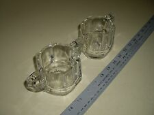Lead Crystal Cream and Sugar Bowl