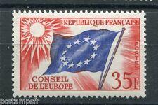 FRANCE, 1958-59, timbre de SERVICE 20, CONSEIL EUROPE, DRAPEAU, neuf**