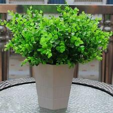 7-Branches Artificial Plastic Eucalyptus Plant Flowers Lucky Leaf Decor #Chicnew