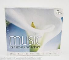 "CD 5er Set ""Music for Harmony and Balance"" Wellness & Entspannung, neu OVP"