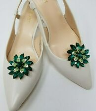 Flower Shoe Clips with Rhinestones 2pcs, Shoe Accessories