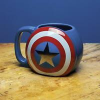 Marvel Avengers Tasse Captain America Shield Schild - 320 ml Kaffeetasse Becher