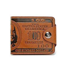 ThunderStar Creative Mens Wallet Unisex Purse 100 Dollar Bill Money Bifold Card