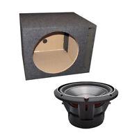 "Rockford Fosgate P3D4-10 10"" 1000 Watt DVC Car Audio Subwoofer + Vented Sub Box"