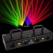 460mW 4 Beam Red Green Purple Yellow Laser Light DMX Stage DJ Bar Party Show 7Ch