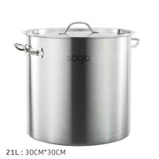 SOGA Stainless Steel Stockpot 21L Kitchen Cookware Stock Pot 12 Month Warranty