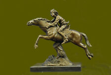 """""""Attack"""" Obstacle Jump Horse and Rider French Bronze after Antoine Bofill Figure"""