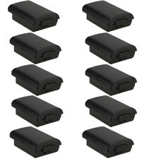 10 PCS Battery Pack Cover Shell Case Kit for Xbox 360 Wireless Controller Black