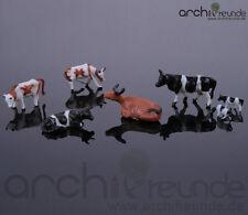10x Modèle Vaches,peint À La Main,pour Ferme Modélisme Maquette De Train Échelle