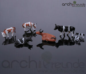 10 x  Modell Kühe, handbemalt, für Bauernhof  Modellbau Modelleisenbahn Spur H0