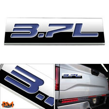 """3.7L"" Polished Metal 3D Decal Blue Emblem For Ford/Infiniti/Lincoln/Nissan"
