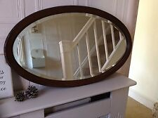 RAY & MILES OF LIVERPOOL VINTAGE ART DECO 1920's BEVELLED OVAL MAHOGANY MIRROR