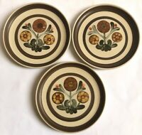 Vintage Retro Langley Plates Hand Painted Made In England Floral Design