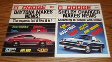Original 1983 & 1984 Dodge Shelby Charger & Daytona Sales Brochure Lot of 2
