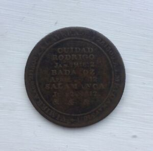 1812 Wellington Token CUIDAD RODRIGO  BADAJOZ  SALAMANCA  Peninsular War Victory