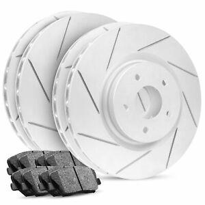 Front+Rear R1 Carbon Geomet Slotted Brake Rotors + Ceramic Brake Pads