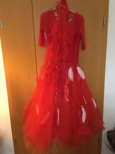 Turnierkleid Standardkleid Tanzkleid rot 38/40