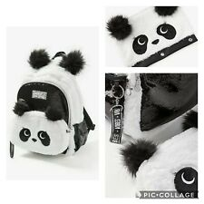 Justice Sparkle Panda Backpack & Crossbody,  and Pencil Case - NWT