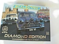 SCALEXTRIC C4030A MINI DIAMOND EDITION TRIPLE PACK BNIB