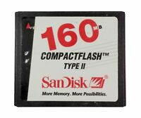 SANDISK CompactFlash 160MB TYPE II CF Memory Card SDCFB2-160M Industrial machine