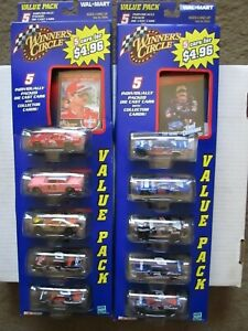Winner's Circle set of 35 carded die-cast NASCAR race cars with trading card